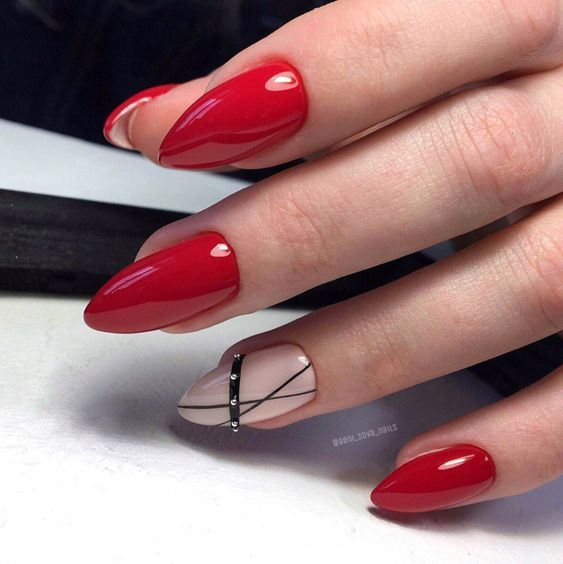 Red nails design ideas
