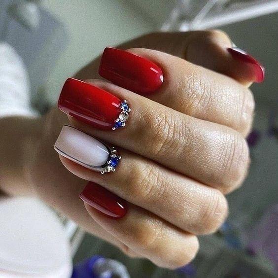 Stylish red nails
