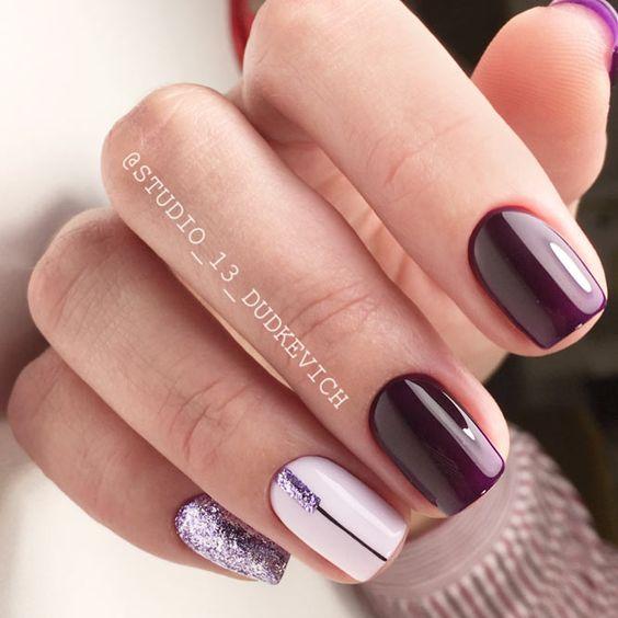 Elegant burgundy nails