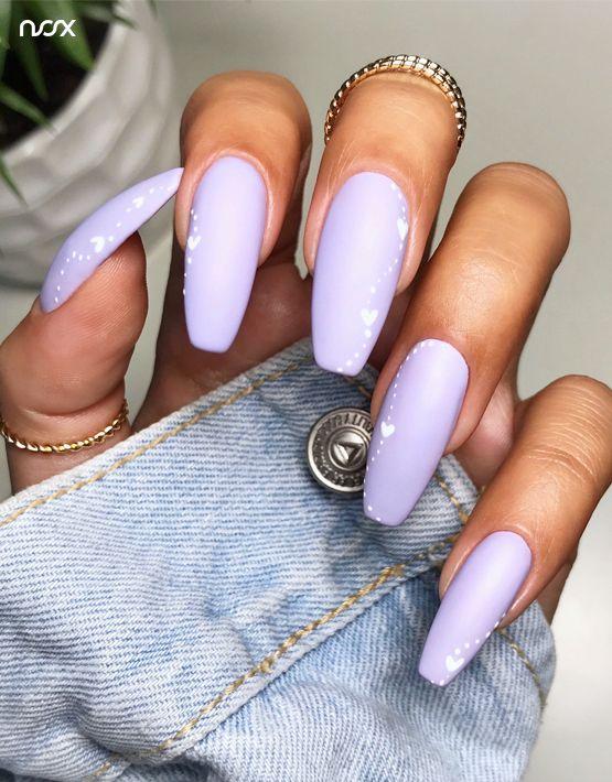 Matte pastel nails