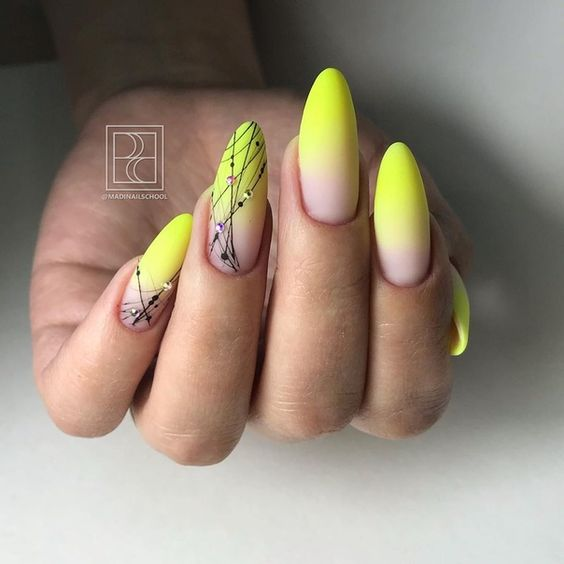 Nails with neon ombre