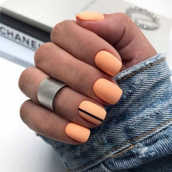 Pastel orange nails