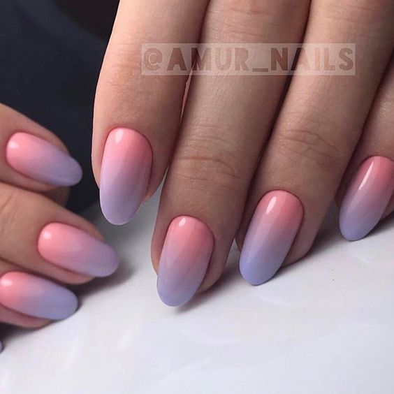 Spring nails with ombre