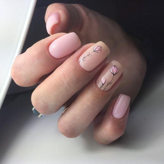 Natural nails for spring