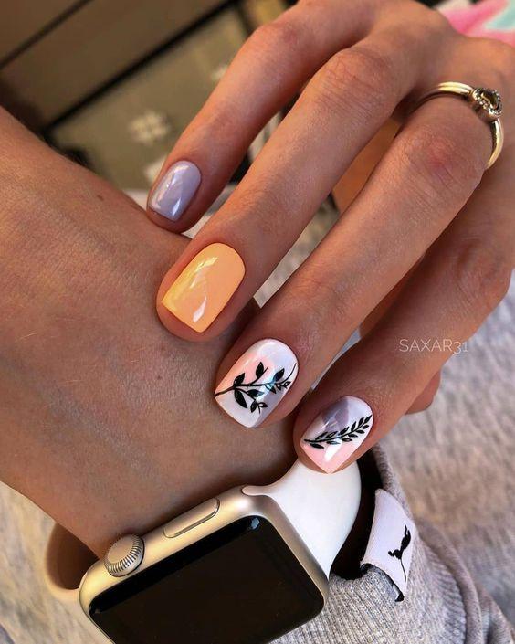 Short nails for spring